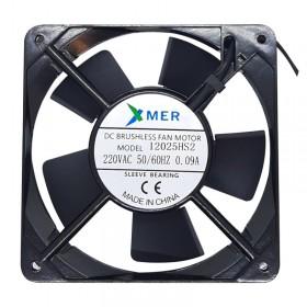 Xmer 12025HS2, 120x120x25mm 220VAC 0.09A 2 Kablolu Fan