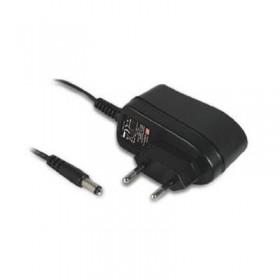 GSM06E05-P1J, 5VDC 1.2A 6W Priz Tip Medikal Adaptör, Mean Well