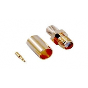 SMA128, SMA Ters Dişi Sıkmalı Konektör, LMR240