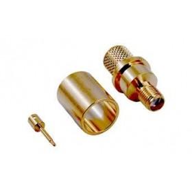 SMA129, SMA Ters Dişi Sıkmalı Konektör, LMR400