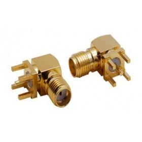 SMA201, SMA Dişi 90' PCB Tip Konektör