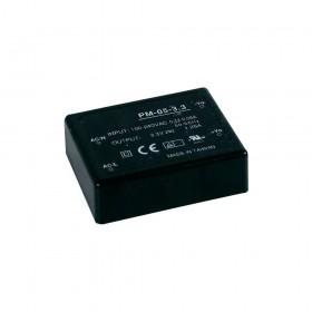 PM-05-12, 12VC 0.42A 5W Medikal PCB Tip AC/DC, MeanWell