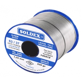 Soldex 631005 1.00mm 500gr Sn:63 Pb:37 Lehim Teli