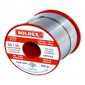 Soldex 603005 3.00mm 500gr Sn:60 Pb:40 Lehim Teli
