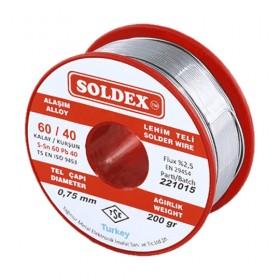 Soldex 601002 1.00mm 200gr Sn:60 Pb:40 Lehim Teli