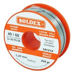 Soldex 401202 1.20mm 200gr Sn:40 Pb:60 Lehim Teli