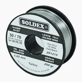 Soldex 301602 1.60mm 200gr Sn:30 Pb:70 Lehim Teli