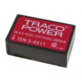 TEN 3-0511, 5Vin 5Vout 500mA 3W DC/DC Konvertör
