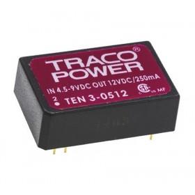 TEN 3-0512, 5Vin 12Vout 250mA 3W DC/DC Konvertör