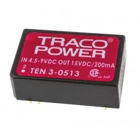 TEN 3-0513, 5Vin 15Vout 200mA 3W DC/DC Konvertör