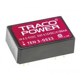 TEN 3-0523, 5Vin ±15Vout ±100mA 3W DC/DC Konvertör