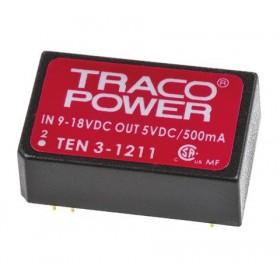 TEN 3-1211, 12Vin 5Vout 500mA 3W DC/DC Konvertör