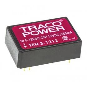 TEN 3-1212, 12Vin 12Vout 250mA 3W DC/DC Konvertör