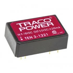 TEN 3-1221, 12Vin ±5Vout ±250mA 3W DC/DC Konvertör