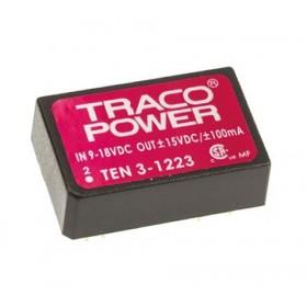 TEN 3-1223, 12Vin ±15Vout ±100mA 3W DC/DC Konvertör