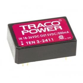 TEN 3-2411, 24Vin 5Vout 500mA 3W DC/DC Konvertör