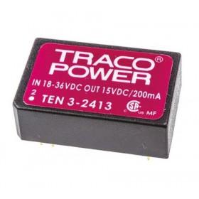 TEN 3-2413, 24Vin 15Vout 200mA 3W DC/DC Konvertör