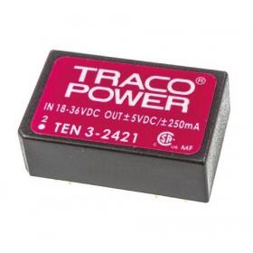 TEN 3-2421, 24Vin ±5Vout ±250mA 3W DC/DC Konvertör
