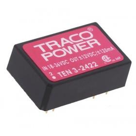 TEN 3-2422, 24Vin ±12Vout ±125mA 3W DC/DC Konvertör