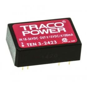 TEN 3-2423, 24Vin ±15Vout ±100mA 3W DC/DC Konvertör