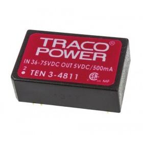 TEN 3-4811, 48Vin 5Vout 500mA 3W DC/DC Konvertör