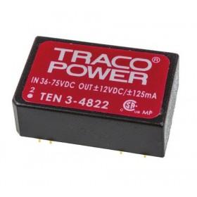 TEN 3-4822, 48Vin ±12Vout ±125mA 3W DC/DC Konvertör