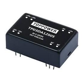 TP03DA12S05, 9-18Vin 5Vout 600mA 3W DC/DC Konvertör