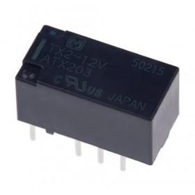 TX2-12V, 12VDC 2A, 2 Form C, Telekom Röle