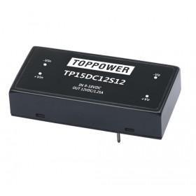 TP15DC12D12, 9-18Vin ±12Vout ±630mA DC/DC Konvertör