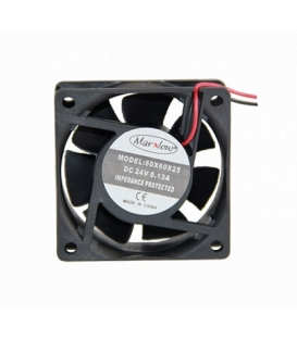Marxlow, 60x60x25mm 24VDC 0.13A 2 Kablolu Fan