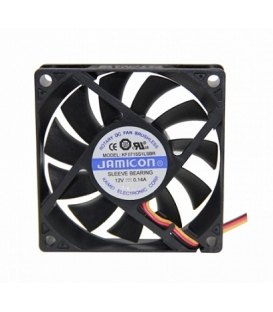 Jamicon, 70x70x15mm 12VDC 0.14A 3 Kablolu Fan