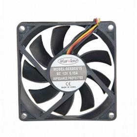 Marxlow, 80x80x15mm 12VDC 0.12A 3 Kablolu Fan