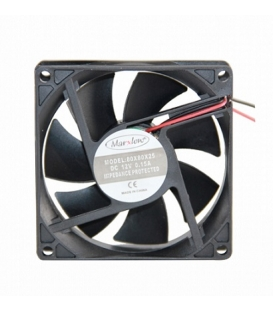 Marxlow, 80x80x25mm 12VDC 0.15A 2 Kablolu Fan