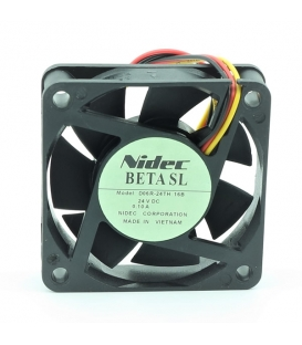 D06R-24TH 16B, 60x60x15mm 24VDC 0.10A 3 Kablolu Fan