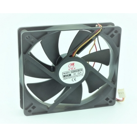FD1225D12HS, 120x120x25mm 12VDC 0.37A 3 Kablolu Fan