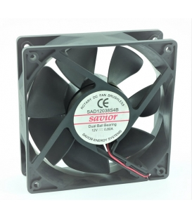 SAD12038S4B, 120x120x38mm 12V 0.80A 8.40W 2 Kablolu Fan