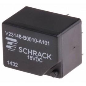 V23148-B0010-A101, 18VDC 7A DPDT Röle