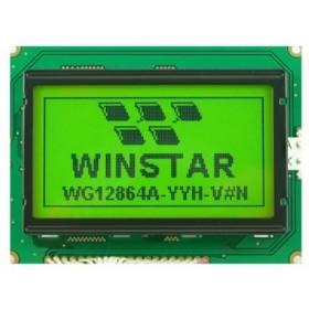WG12864A-YYH-VN, 128x64 Yeşil Grafik LCD