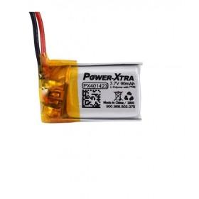 PX401423, Power-Xtra 3.7V 90 Mah Li-Polymer Pil (PCM/1.5A)