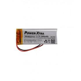PX402050, Power-Xtra 3.7V 340 mAh Li-Polymer Pil (PCM/1.5A)