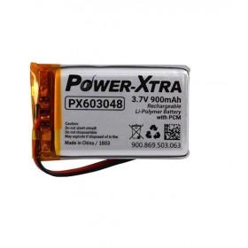 PX603048, Power-Xtra 3.7V 900 mAh Li-Polymer Pil (Devreli/1.5A)