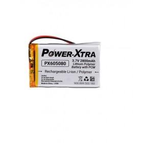 PX605080, Power-Xtra 3.7V 2800 mAh Li-Polymer Pil (Devreli)