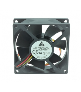 AFB0824VH, 80X80X25mm 24VDC 0.21A 3 Kablolu Fan