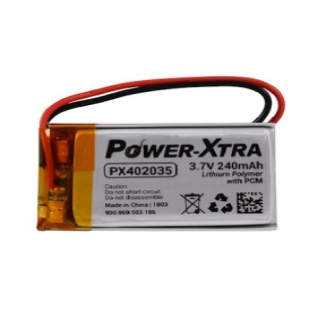 PX402035, Power-Xtra 3.7V 240mAh Li-Polymer Pil (Devreli/1.5A)
