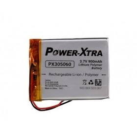 PX305060, Power-Xtra 3.7V 900mAh Li-Polymer Pil (Devreli/1.5A)