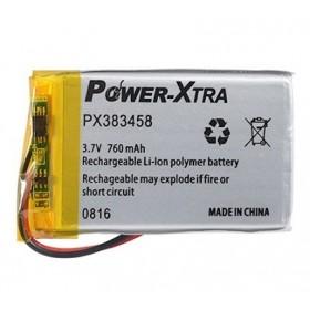 PX383458, Power-Xtra 3.7V 760mAh Li-Polymer Pil