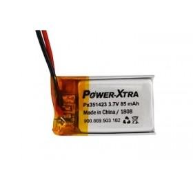 PX351423, Power-Xtra 3.7V 85mAh Li-Polymer Pil (Devreli/1.5A)