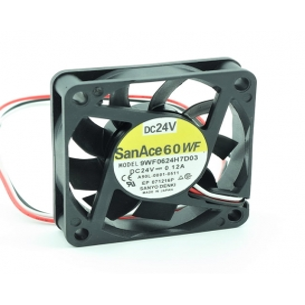 9WF0624H7D03, 60x60x15mm 24VDC 0.12A 3 Kablolu Fan