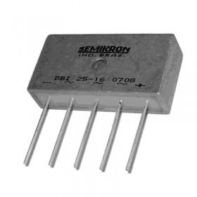 DBI25-16, 1600V 25A 3 Faz Köprü Diyot