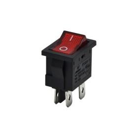 AF119, Yükseltici Anahtarı Işıklı 4P 0-1 Kırmızı